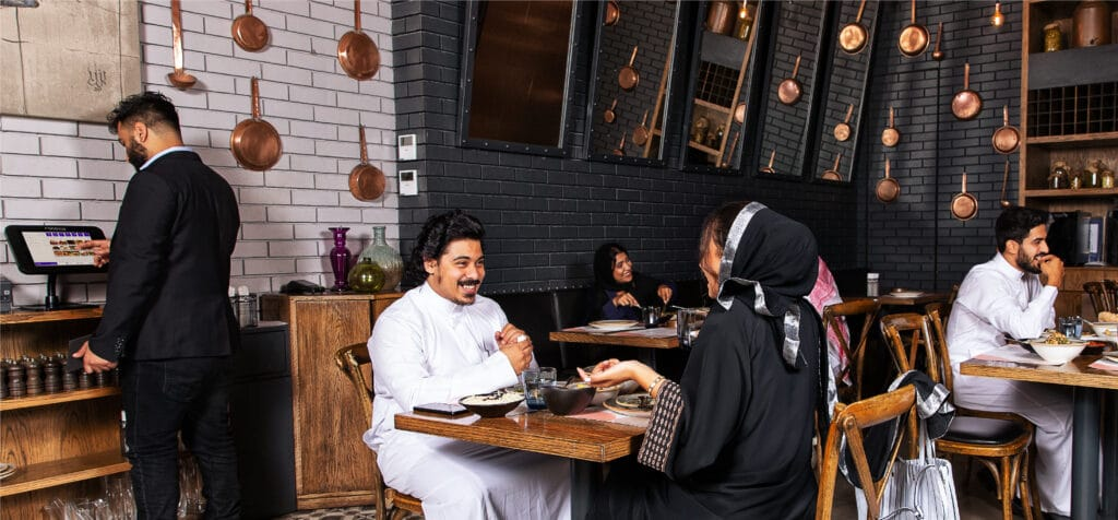 Customers in an SME restaurant
